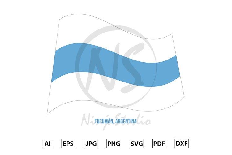Tucuman Flag Waving Vector. Flag of Argentina Provinces example image 1