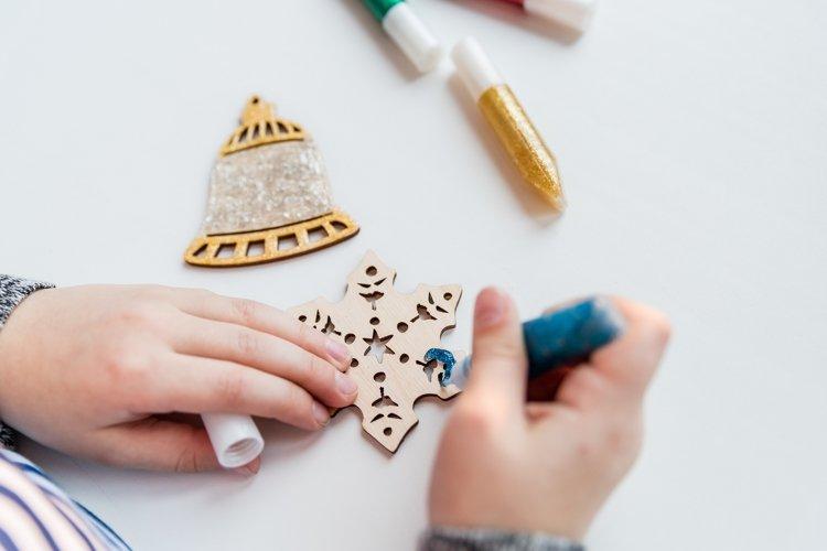 Handmade decoration for christmas. DIY.