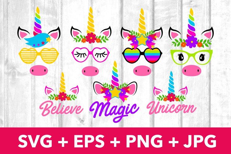 Magic Unicorn Faces SVG