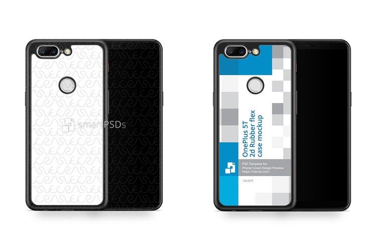 OnePlus 5T 2d RubberFlex Case Design Mockup 2017 example image 1