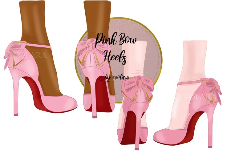 High Heel Shoes Clipart Pink Heels Fashion Illustrations example image 1