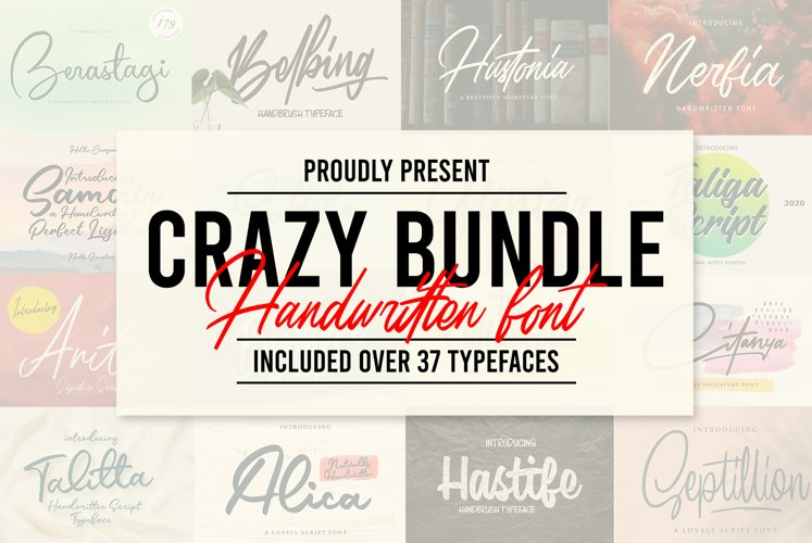 CRAZY BUNDLE - Handwritten Font example image 1