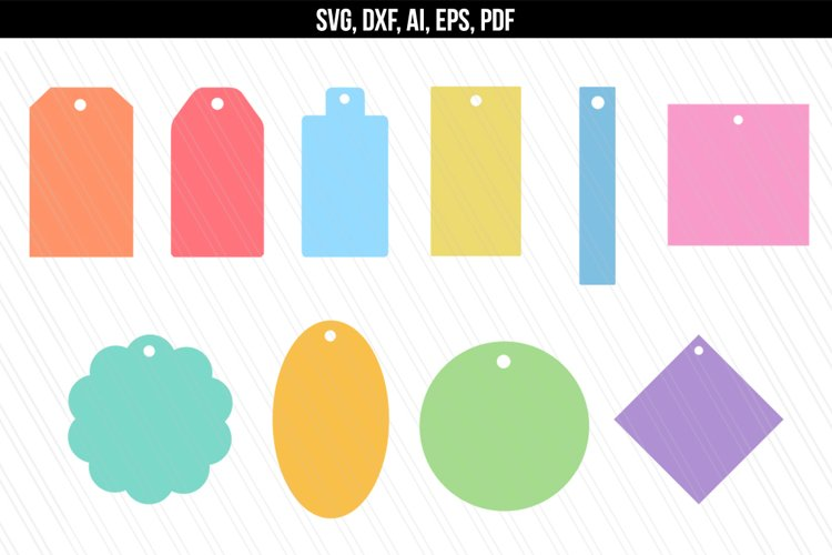 Gift Name Price tags SVG / DXF cutting files example image 1