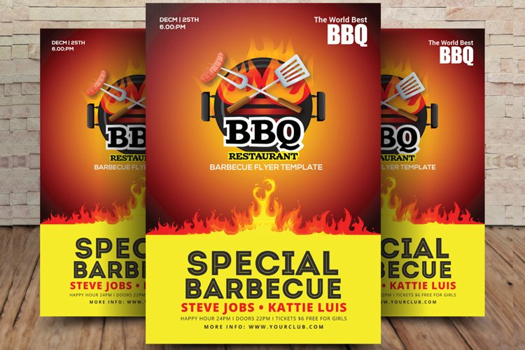 Special BBQ Restaurant Flyer example image 1