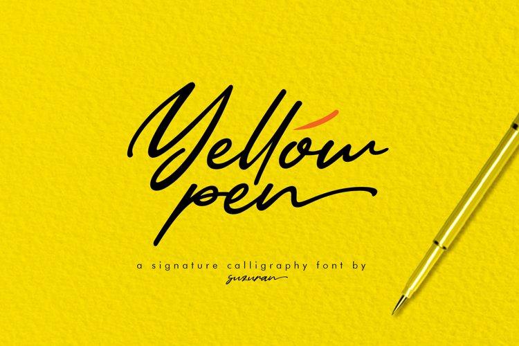 Yellow Pen Script example image 1