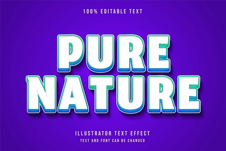 Pure nature - Text Effect example image 1