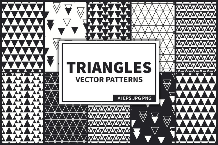 Triangles Vector Seamless Patterns