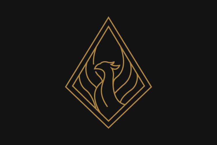 phoenix minimalist logo template example image 1