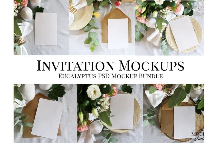 Card Mockup, Wedding Invitation Mockup, Stationary Mockup example image 1