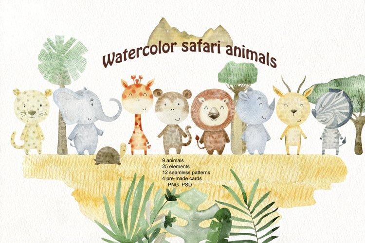 Savannah. Watercolor animals. example image 1