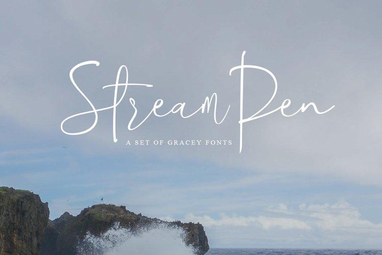 StreamPen Font