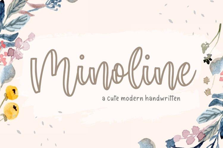Minoline Cute Modern Calligraphy Font example image 1