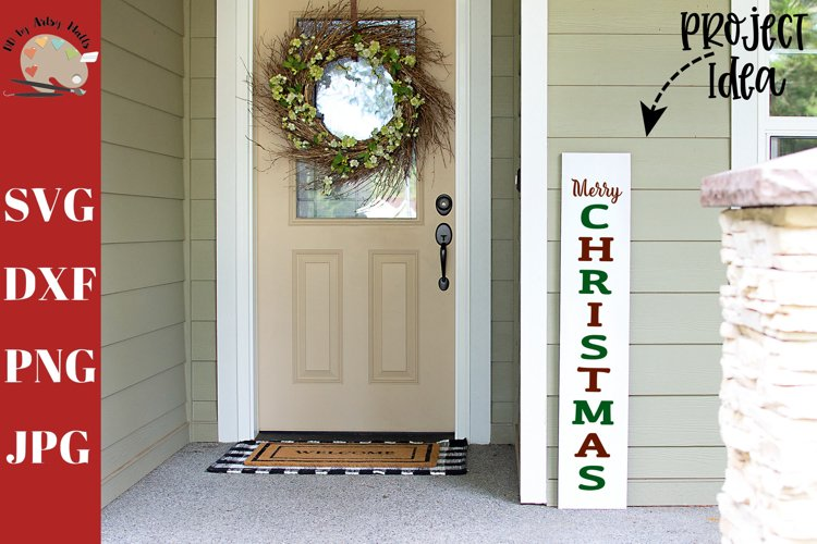 Merry Christmas Front Porch Wood Sign svg, home decor svg