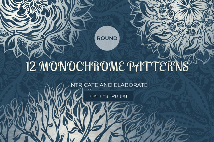 A collection of round hand-drawn patterns example image 1