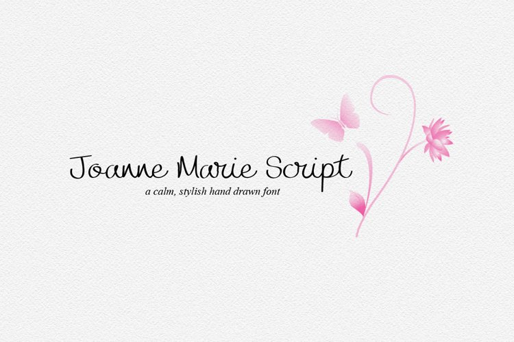 Joanne Marie Script Font example image 1