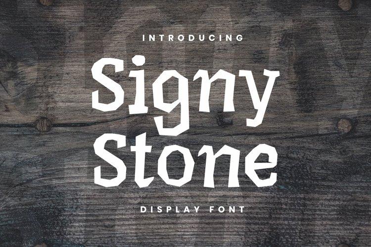Web Font Signy Stone Font