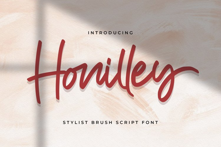 Honilley - Handwritten Font example image 1