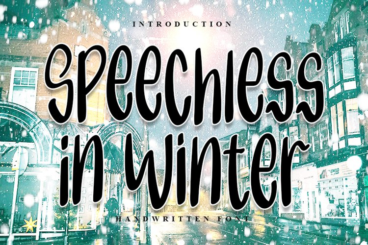 Speechless in Winter | Handwritten Font example image 1