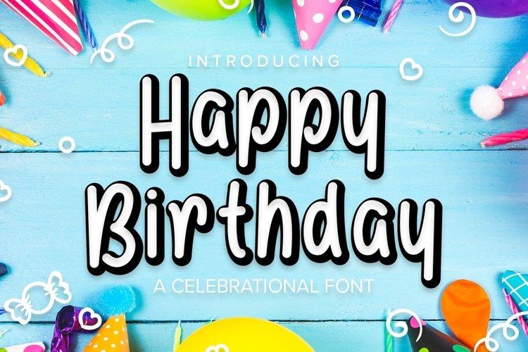 Web Font Happy Birthday Font example image 1