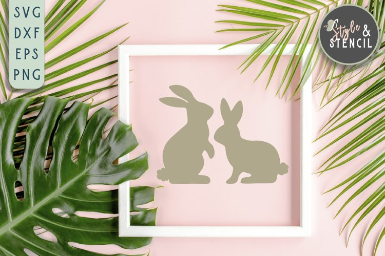 Bunny SVG | Easter | Rabbit Silhouette example image 1