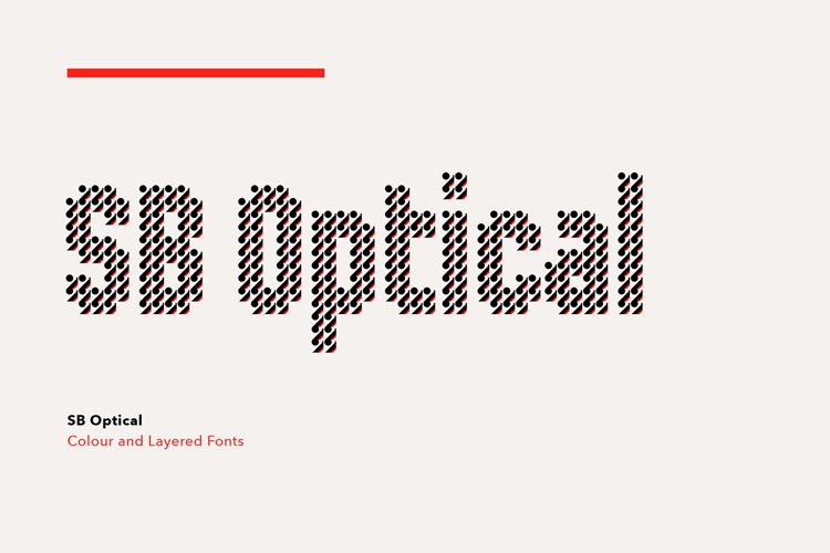 SB Optical - Color Pattern Font