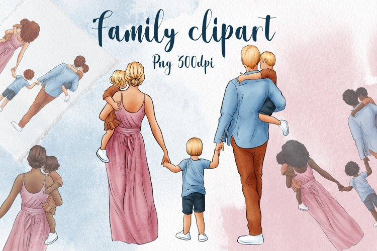Family Clipart, Fathers Day Clipart, Mothers Day Clipart
