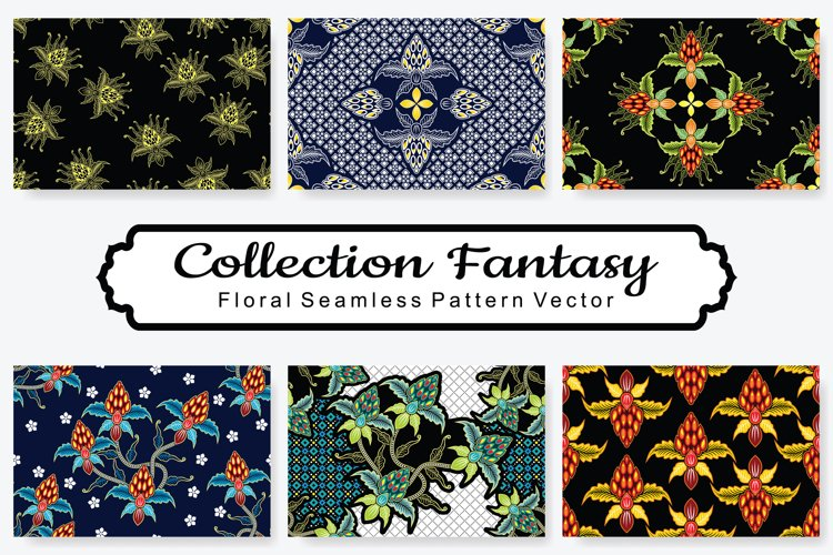 Set Of Fantasy Floral Vector Pattern Vol.9 example image 1