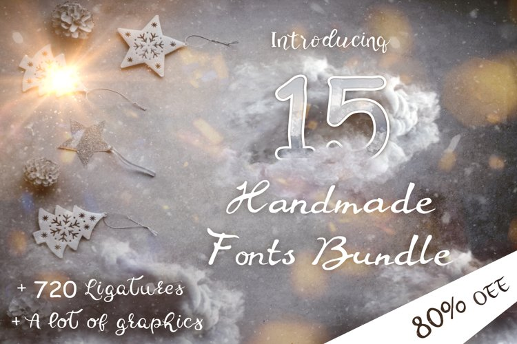 15 Creative Handmade Fonts Bundle example image 1