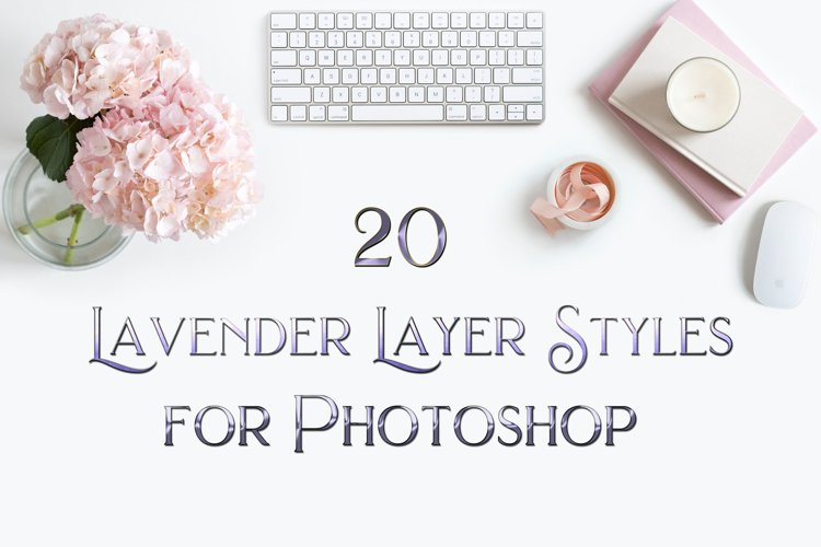 20 Lavender Layer Styles for Photoshop
