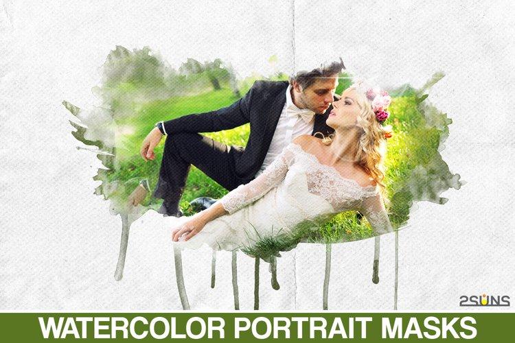 20 Beautiful portrait paint masks, photo frame, Photoshop example image 1