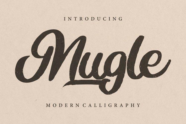 Mugle   Modern Calligraphy Script Font example image 1
