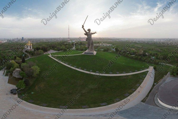 Panorama of Mamaev Kurgan 360. Volgograd, Russia 2018