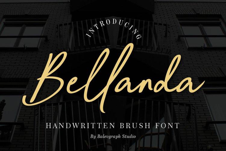 Bellanda Handwritten Brush Font example image 1