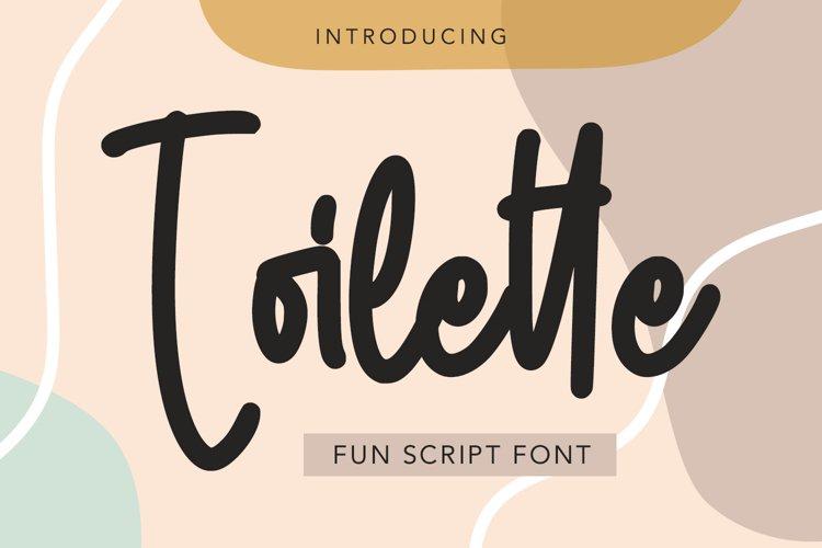 Toilette - Fun Script Font example image 1