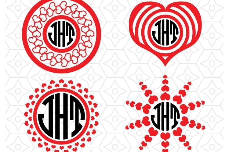 Valentines Monogram Frame Border Collection
