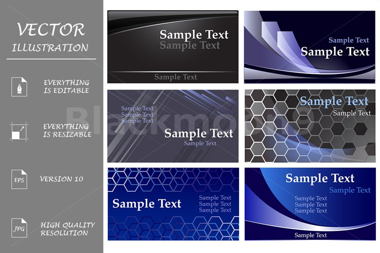 Business cards with a dark background example image 1