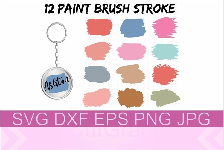 Brush Stroke SVG PNG DXF Files example image 1