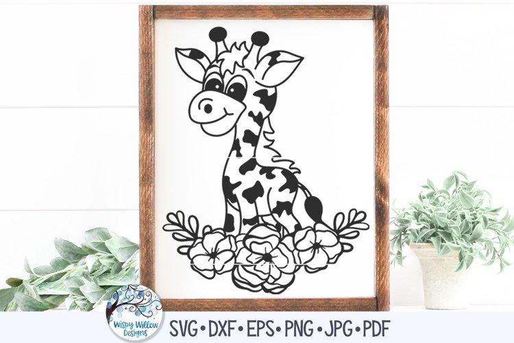 Floral Giraffe SVG