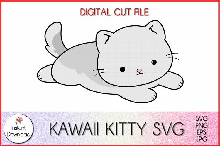 Cute Cat SVG, Kawaii Kitty Clipart