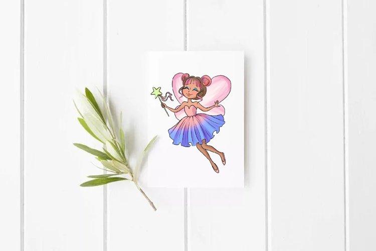 Fairy clipart, Pretty fairies clipart, Watercolor example 2