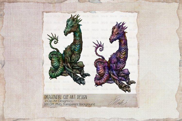 Dragonfire,Dragon Clip Art Designs, Sublimation example image 1