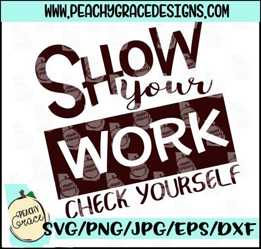 Show Your Work -- Math Teacher SVG