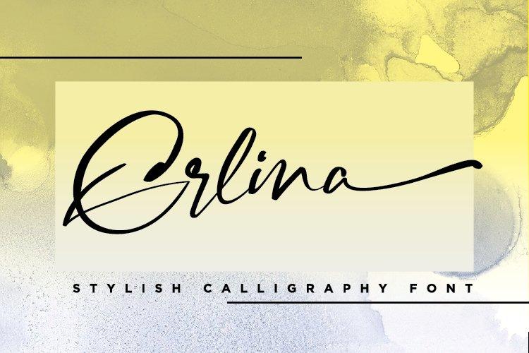 Erlina. Stylish Calligraphy Font example image 1
