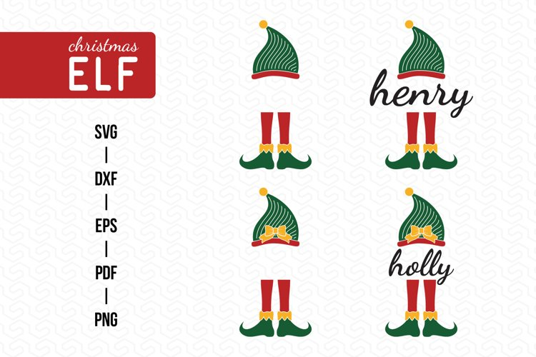 ELF SVG, Christmas SVG, Christmas ELF SVG, DXF, EPS, PNG example image 1