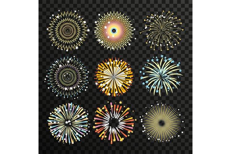 Gigantic fireworks with big explosion. Flame burst. Vector i example image 1