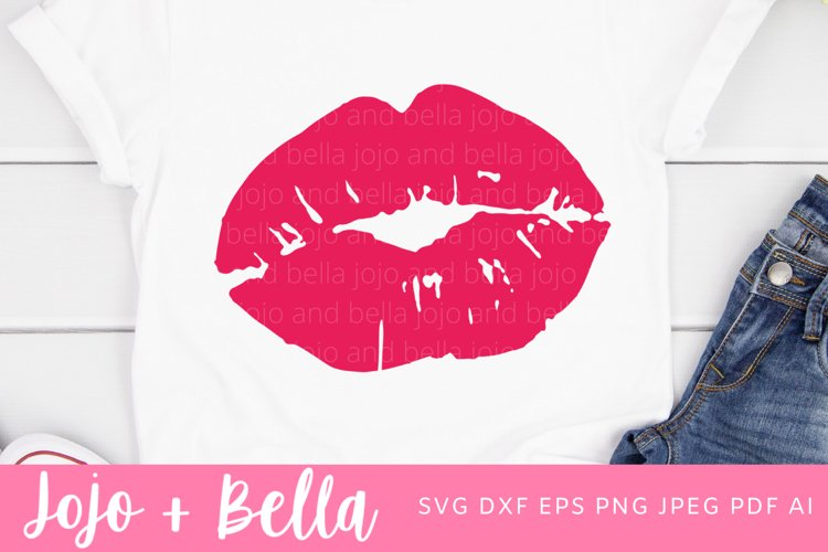 Lips Svg | Lips Shirt Svg | Valentine's Day Svg example image 1