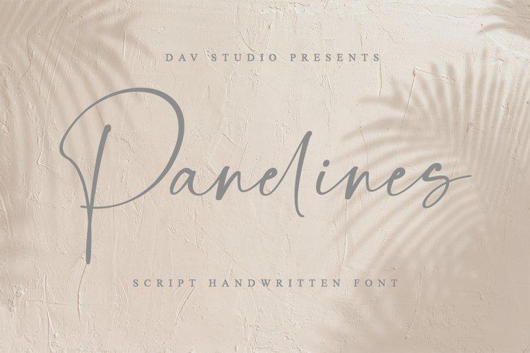 Panelines - Script Handwritten Font