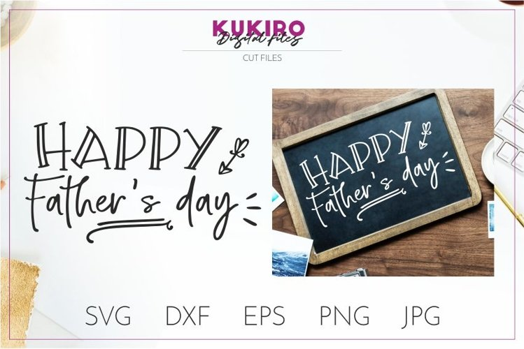 Happy Father's day Cut file SVG - Dads design example image 1
