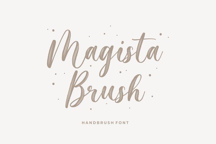Magista Brush - Handbrush Font example image 1