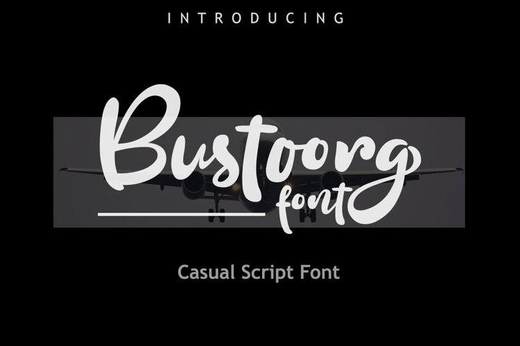 Bustoorg Font example image 1